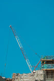Cranes and Levers for contruction work in City Stock Photo