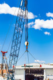 Cranes for lifting boats. Details of crane for lifting boats Royalty Free Stock Photo