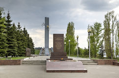 Cranes - a monument to the residents of Saratov who were dies in days of the Great Patriotic War of 1941-1945. Royalty Free Stock Images