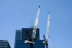 Cranes, near Darling Harbour, Sydney Stock Photo
