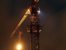 Cranes in the night Stock Photography