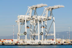 Cranes in Oakland port Royalty Free Stock Photography
