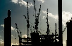 Free Cranes On A Building Construction Site Royalty Free Stock Photo - 136794225