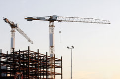Free Cranes On Construction Site Stock Images - 23387884