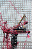 Cranes in One World Trade Center site Stock Image