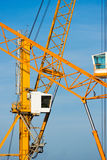 Cranes in Piombino harbour. stock photography