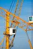 Cranes in Piombino harbour. Stock Photography