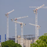 Cranes Poised for Action Royalty Free Stock Image