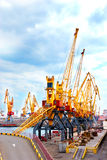 Cranes in port Royalty Free Stock Photos