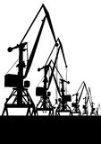 Cranes in the port Royalty Free Stock Image