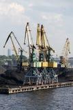 Cranes in port. Royalty Free Stock Photos