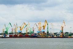 Cranes at port Royalty Free Stock Photos