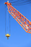 Cranes at port area and blue sky Stock Photo