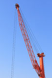 Cranes at port area and blue sky Royalty Free Stock Photo