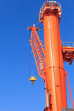 Cranes at port area and blue sky Stock Images