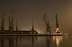 Cranes in the port in Baku Stock Images