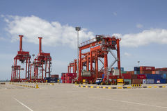 Cranes in the port of Sihanoukville, Cambodia Royalty Free Stock Image