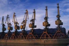 Cranes at Puerto Madero stock photo