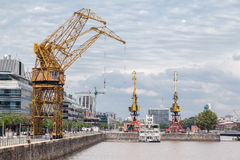 Cranes in Puerto Madero Buenos Aires Stock Images