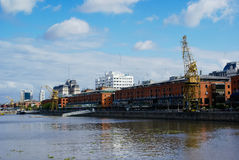 Cranes in Puerto Madero, Buenos Aires Royalty Free Stock Photos