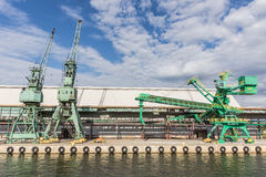 Cranes at the quay Stock Photography