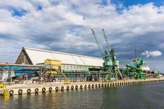 Cranes at the quay Royalty Free Stock Photo