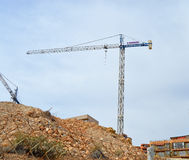 The Cranes Return To The Costa Blanca Construction Site royalty free stock photography
