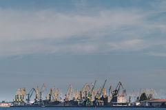Cranes in Riga port Royalty Free Stock Photo