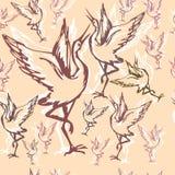 22 crane wallpaper Royalty Free Stock Images