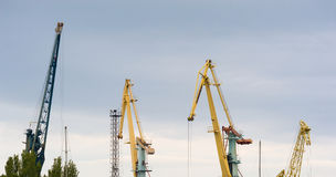 Cranes in the seaport Stock Photography