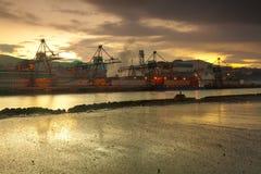 Cranes in Sestao Stock Image
