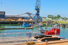 Cranes in shipyard Royalty Free Stock Images