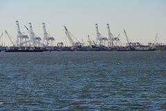 Cranes in shipyard Royalty Free Stock Photos