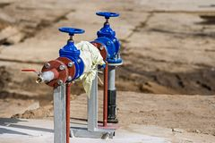 Cranes of shutoff valves Stock Images