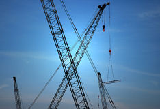 Cranes Silhouette Royalty Free Stock Image