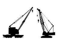 Cranes silhouette vector Stock Photography
