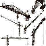 Cranes silhouettes. Vector illustration high quality details vector illustration
