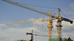 Cranes on site Royalty Free Stock Photos