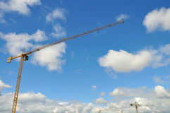 Cranes and sky Royalty Free Stock Photography