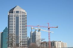 Cranes and Towers Royalty Free Stock Photos