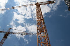 Cranes Royalty Free Stock Photo