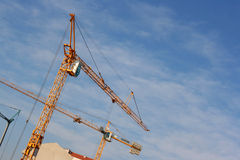 Cranes up the sky Stock Photos