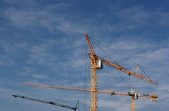 Cranes up the sky Stock Photos