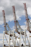 Cranes used to load & unload container ships Royalty Free Stock Image