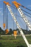 Cranes in the Vicksburg Harbor, Vicksburg, Mississippi Royalty Free Stock Photography