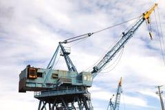 Cranes at work. Royalty Free Stock Photo