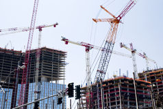 Cranes at Work stock photos