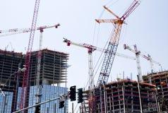 Cranes at Work Stock Photos