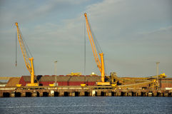 Cranes working Royalty Free Stock Photography