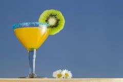 Crange coctail och blommor fotografering för bildbyråer